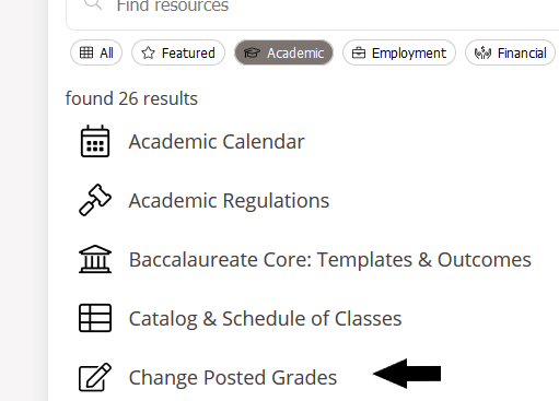 Change posted grades