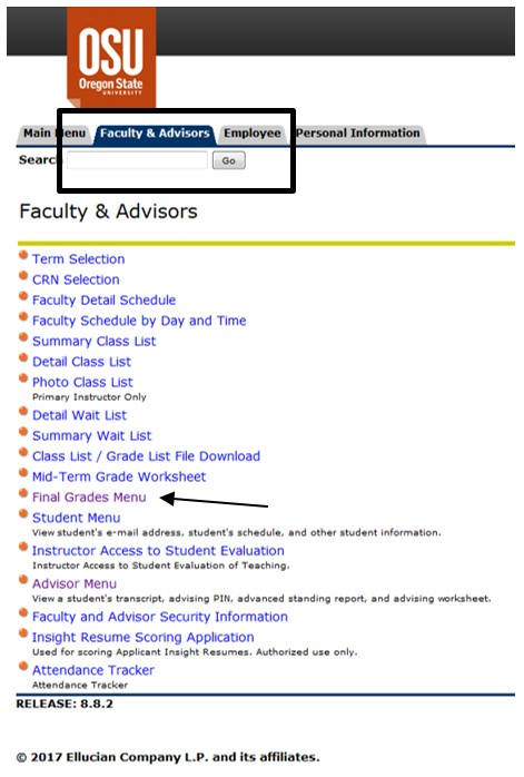 Faculty Advisor Tab