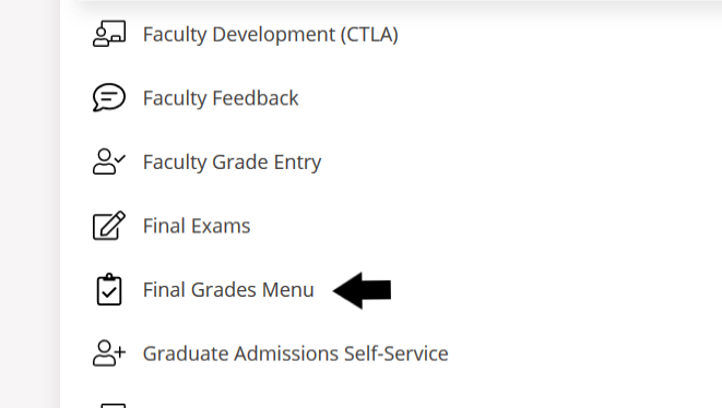 final grades menu in MyOregonState